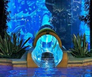 aqua, blue, and Las Vegas image