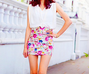 fashion, floral, and legs image