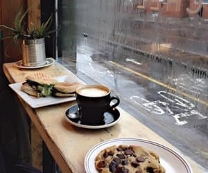coffee, food, and rain image