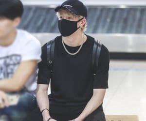 airport, blonde, and stray kids image