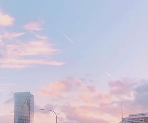 pastel, pink, and sky image