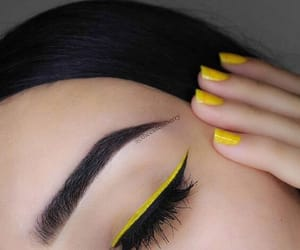 eyes, style, and yellow image
