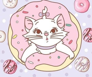 background, disney, and donuts image