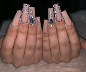 acrylic, nails, and nail designs image