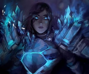 blue, crystals, and video game image