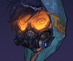 hoodie, video game, and tracer image