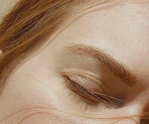 beauty, eyebrows, and closed eyes image