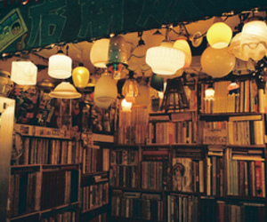 book, light, and vintage image