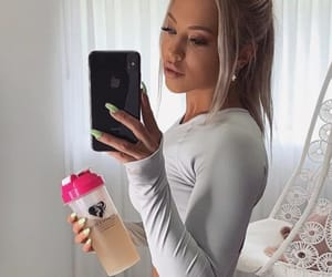 blonde, exercise, and gym image