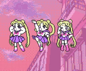 background, sailor moon, and wallpaper image