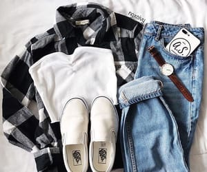 fashion, flannel, and goals image