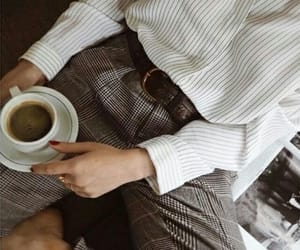 coffee, style, and fashion image