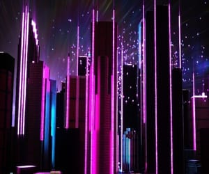 city, vaporwave, and neon image