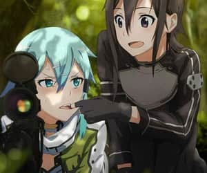 anime, sword art online, and sinon image