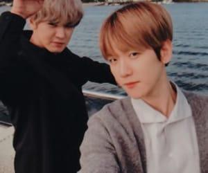 exo, chanyeol, and baekyeol image