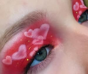 eyeshadow, makeup, and valentines image