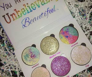 colors, glitter, and make up image