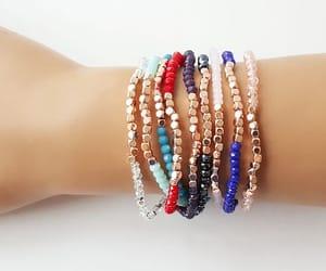 etsy, rose gold bracelet, and minimalist jewelry image