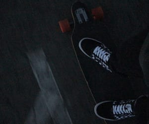 aesthetic, dark, and longboard image