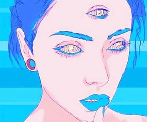 aesthetic, blue, and trance image