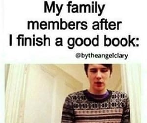 book, funny, and family image