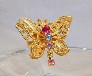 etsy, butterfly pendant, and rhinestone butterfly image
