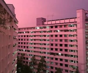 buildings, sun, and pink image