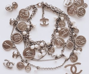 chanel, gold, and jewelry image