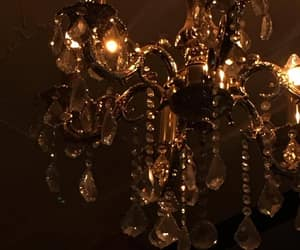 bulb, chandelier, and dark image