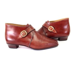brown leather, mahogany, and women leather boots image