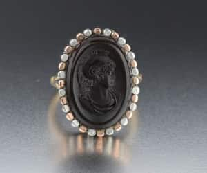 cameo, gold, and white image