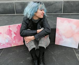 art, art girl, and blue hair image