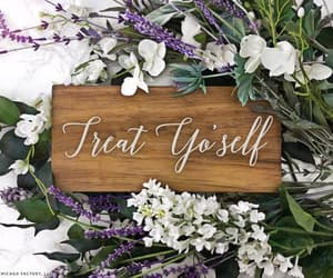 etsy, treat yourself, and wood wedding sign image