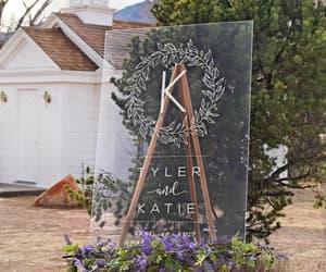 etsy, acrylic wedding sign, and bridal gift image