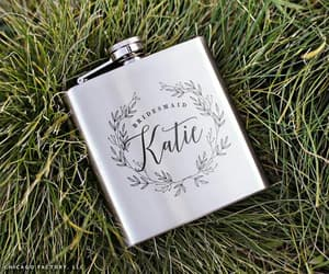 etsy, hip flask, and custom wedding gifts image