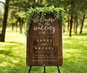 etsy, rustic wedding sign, and custom wall plaque image