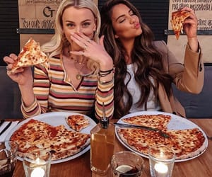 girl, goals, and pizza image
