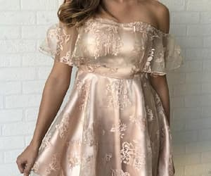 homecoming dresses, a-line homecoming dress, and champagne party dresses image
