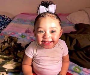 baby, smiling, and big eyes image