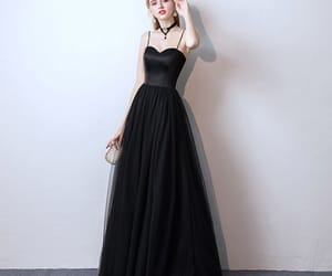 girl, prom dress, and formal dresses image