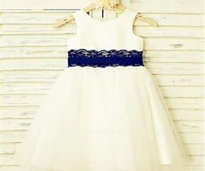 a-line flower girl dress and flower girl dress lace image