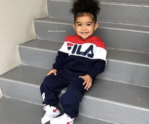 baby, Fila, and jumpsuit image