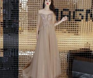 evening dress, girl, and evening dresses 2019 image