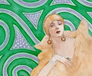 1920s, flapper, and green image