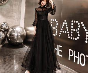 black dress, evening dress, and evening dresses 2019 image