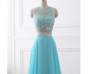 blue prom dresses, two pieces prom dresses, and long prom dresses image
