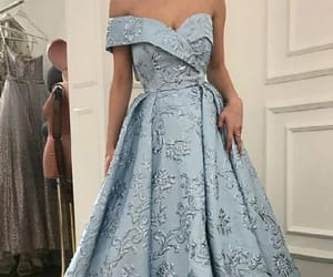 prom dresses, light blue prom dresses, and blue prom dresses image