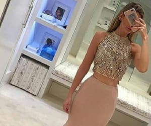 long prom dresses, prom dresses 2018, and prom dresses two piece image