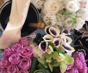 alcohol, flowers, and presents image