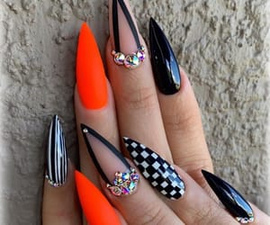 nail art, stiletto nails, and nails image